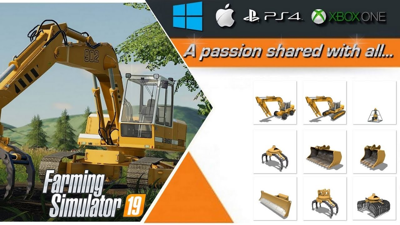 fs19 preview excavator liebherr 902 pack coming soon