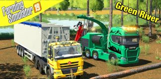 SCANIA POWER CHIPPING Farming Simulator 19 - Green River with Daggerwin Ep 14
