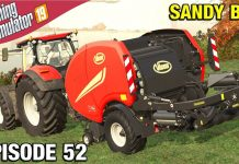 NON-STOP BALING Farming Simulator 19 Timelapse - Sandy Bay Seasons FS19 Ep 52