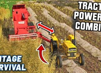 NEW TRACTOR POWERED COMBINE! | Vintage Survival | Episode 11