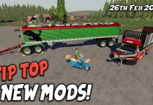 TIP TOP NEW MODS (Review) Farming Simulator 19 FS19 26th Feb 2021.