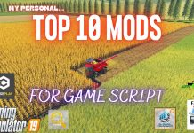 TOP 10 MODS FOR GAME SCRIPT - Farming Simulator 19