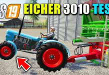 EICHER 3010 Tractor Test with Plows, Cultivator & Heavy Trailers!!! FS19 Eicher Tractors Mods