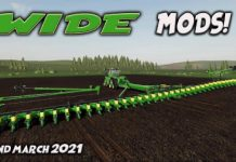 WIDE MODS (Review) Farming Simulator 19 FS19 2nd March 2021.