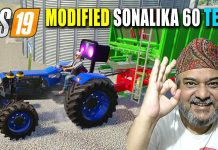 Fully Modified Sonalika 60 Tractor Test with Plows, Cultivator & Trailers! FS19 Canadian Farm Map 5