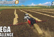 Mega Straw baling | MEGA Challenge | Timelapse #2 | Farming Simulator 19
