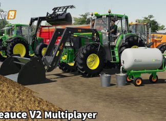 Spreading Manure, Storage of Clover Hay Bales│La Beauce│Multiplayer│FS 19│Timelapse#5
