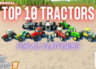 TOP 10 TRACTORS FOR ALL PLATFORMS - Farming Simulator 19