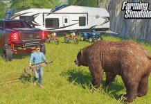 WILD BEAR HUNTING TRIP! (LUXURY CAMPERS) | FARMING SIMULATOR 2019