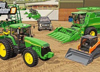 BUILDING MY REAL-LIFE FARM IN FARMING SIMULATOR! (JD 8110, KUBOTA, 9560 STS, 12-ROW PLANTER)