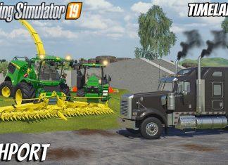Compacting 700K of Fresh Maize  | Farming on Richport | Farming Simulator 19 | Timelapse 3