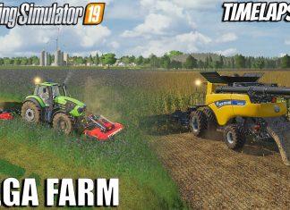 Harvesting Corn and Alfalfa | MEGA FARM Challenge | FS 19 | Timelapse #31