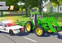 STOLEN TRACTOR GET'S PULLED OVER BY POLICE   (ROLEPLAY) FARMING SIMULATOR 2019